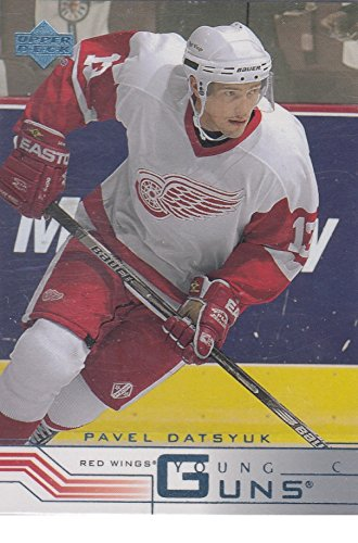 (2001-02 Pavel Datsyuk Upper Deck RETAIL VERSION Young Guns Detroit Red Wings Rookie Hockey Card #422 )