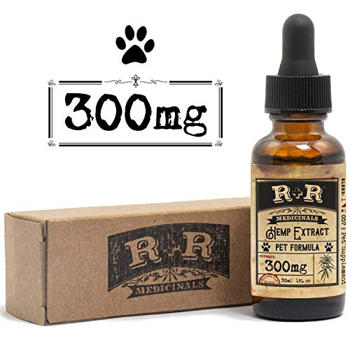 Cheap R+R Medicinals Hemp Oil for Dogs :: Hemp Oil for Pets :: Hemp Oil for Cats :: Hemp Oil for Stress Relief, Anxiety, Pain, Calming Relief (300mg, 10mg Serving x 30 Servings)