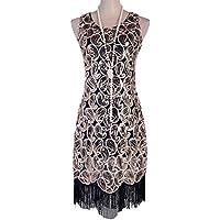 kayamiya 1920s de Paisley patrón de lentejuelas de la mujer Fringe Gatsby Flapper Dress