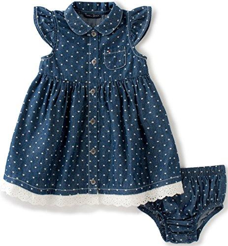 29fa7cb0b Tommy Hilfiger Baby Girls 2 Pieces Denim Dress Set-Open Front ...