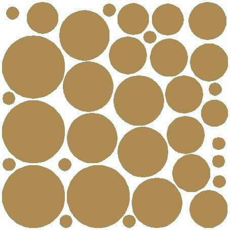 N.SunForest 34 Gold Polka Dots Vinyl Wall Decals Removable Décor Stickers Home Kitchen Baby Nursery Wall Art - Round Brown N Pictures