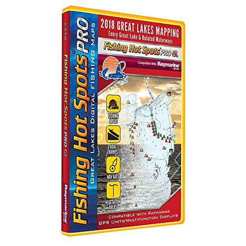 Fishing Hot Spots PRO GL - 2018 Digital Map & Fishing Chip f/Raymarine Units - Great ()