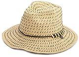 Roxy Juniors Breezy Straw Fashion Hat, Tan, One Size