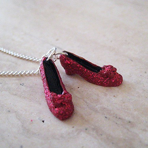 Ruby Red Slippers Necklace, Wizard of Oz Necklace, Dorthy's Slippers