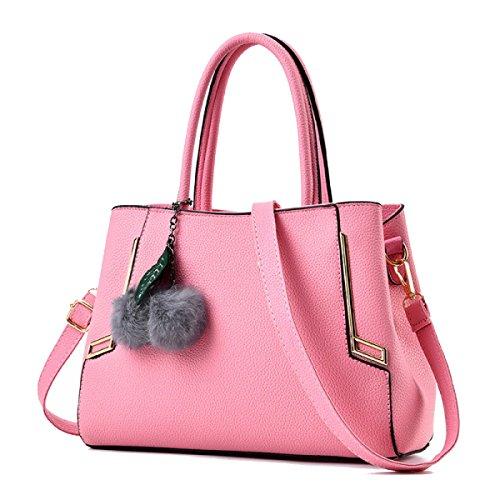 WU ZHI Lady Messenger Bag Bolso De Hombro De Gran Capacidad Bolso De Hombro Multipurpose Wild Pink