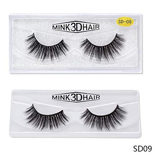 2 pairs natural false eyelashes fake lashes kit 30D Fake Eyelashes Natural Thick False Easy to use