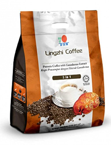 10 Packs DXN Lingzhi 3 in 1 Healthy Coffee with Ganoderma ( Total : 200 Sachets x 21g ) by DXN