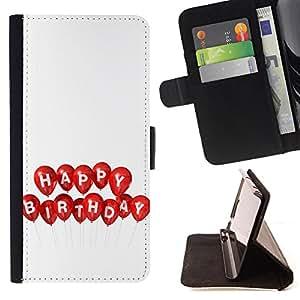 Jordan Colourful Shop - FOR HTC DESIRE 816 - happy birthday - Leather Case Absorci¨®n cubierta de la caja de alto impacto