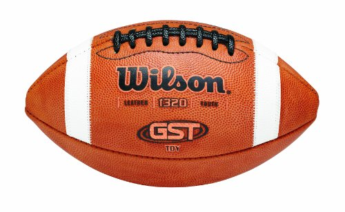 Wilson GST TDY Youth Leather Football (Football Wilson Leather)