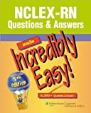 NCLEX-RN®Questions&Answers MadeIncredibly Easy!(text only)5th(Fifth)edition by Lippincott Pdf