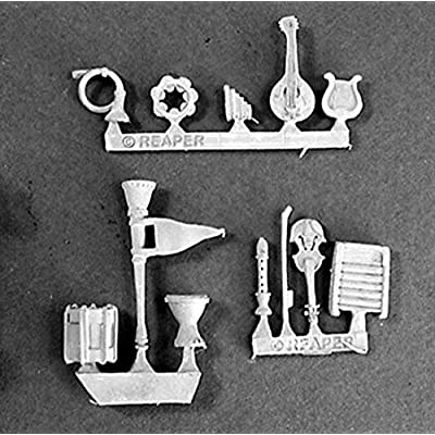 Reaper Miniatures Musical Instruments 12 Pcs #03032 Dark Heaven Unpainted Metal: Toys & Games