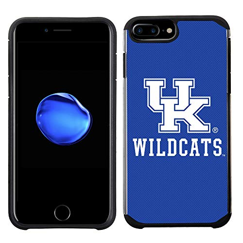 Prime Brands Group Textured Team Color Cell Phone Case for Apple iPhone 8 Plus/7 Plus/6S Plus/6 Plus - NCAA Licensed University of Kentucky Wildcats (Ky Iphone 6 Case)