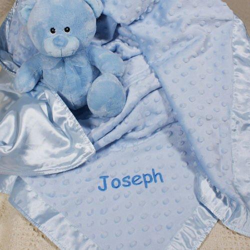 Personalized Cuddle Baby Blue Fleece Blanket, 38