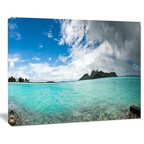 - Designart PT11673-20-12 Bora French Polynesia Panorama Large Seascape Art Canvas Print, 12