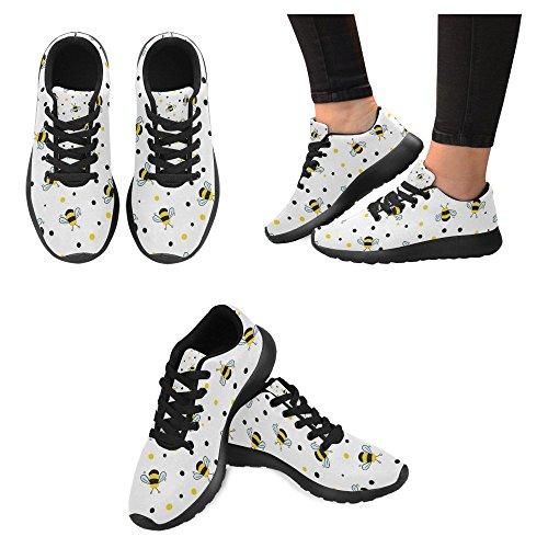 Interestprint Womens Jogging Running Sneaker Leggero Go Easy Walking Casual Comfort Sport Scarpe Da Corsa Api E Piselli Multi 1