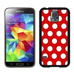 Custom Polka Dot Red and White S5 Case for Girls Best Samsung Galaxy S5 Case for Boys Spot Black Cover