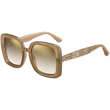 Lunettes de Soleil Jimmy Choo CAIT S LIGHT BROWN BROWN SHADED femme ... 2191fbf643f9