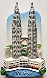 Petronas Twin Towers Malaysia Resin 3D fridge Refrigerator Thai Magnet Hand Made Craft. by Thai MCnets