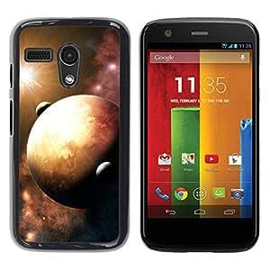 Vigas Solares En La Tierra - Metal de aluminio y de plástico duro Caja del teléfono - Negro - Motorola Moto G 1 1ST Gen
