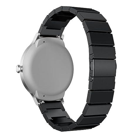 Para LG reloj correa de estilo, harrystore deportes genuino de pulsera de acero inoxidable correa