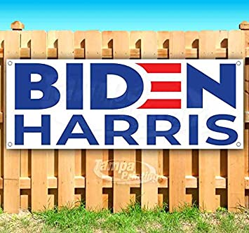 New Biden Harris 2020 13 oz Heavy Duty Vinyl Banner Sign with Metal Grommets Store Advertising Flag, Many Sizes Available