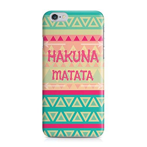 Cover Hakuna Matata AZTEC grün Handy Hülle Case 3D-Druck Top-Qualität kratzfest Apple iPhone 6 / 6S