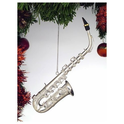 Broadway Gifts Silver Music Saxophone Musical Instrument Ornament New