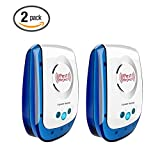 I-pure items Pest Control Ultrasonic Repellent- Electronic Plug In Pest Repeller- Pack of 2 Repels Mice, Rats, Roaches, Spiders, Other Insects,Non-toxic Environment-friendly, Humans & Pets Safe