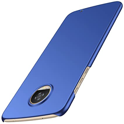 Anccer Moto Z2 Play Case [Colorful Series] [Ultra-Thin] [Anti-Drop] Premium Material Slim Ultra Thin Cover (Not fit for Z2)- Blue