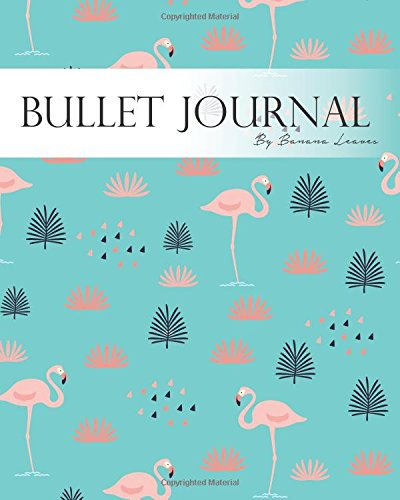 """Read Online Bullet Journal Notebook, Dotted Grid,Graph Grid-Lined Paper, Large, 8""""x10"""", 150 Pages: Pink Flamingo in Flower Blue Garden Covers: Master Journaling ... System Professional Journal (Bullet Journals) ebook"""