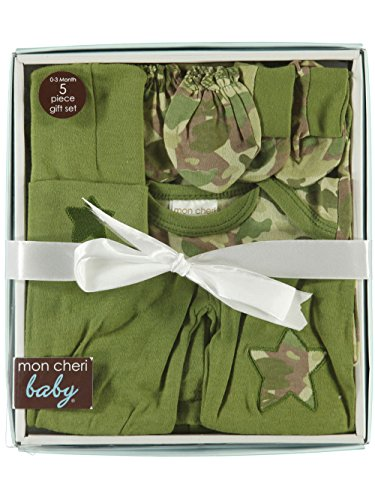 (Baby 5-Piece Camo Outfit Gift Set, Olive, 0-3)