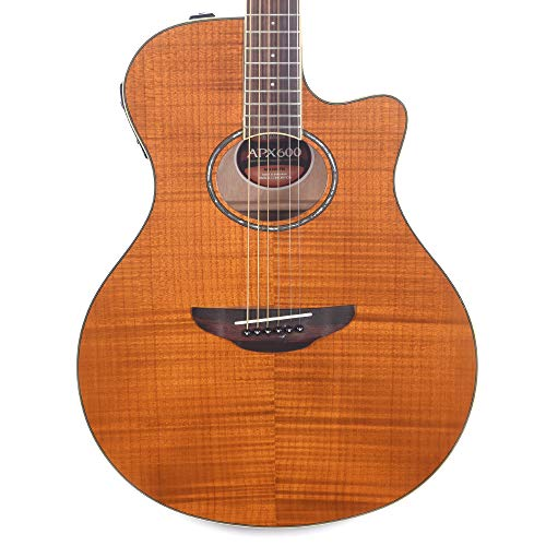 Yamaha APX600FM Flame Maple Amber Acoustic-Electric - Acoustic Yamaha Electric