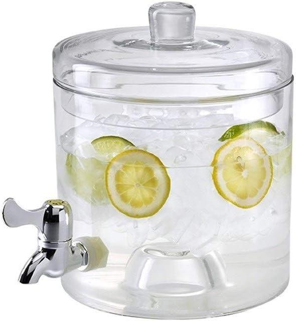XHHWJJ Dispensador de Bebidas de 4700 ml con infusor de Frutas y Soporte | Libre de BPA | Acero Inoxidable ...