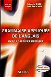 Image de Grammaire appliquée de l'anglais: Avec exercices corrigés
