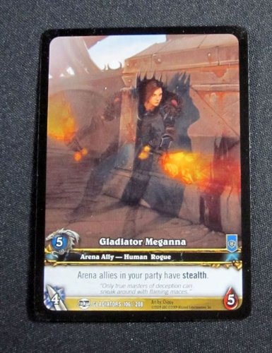 (10) World of Warcraft WoW TCG Gladiator Meganna Gladiators Promo Extended Art