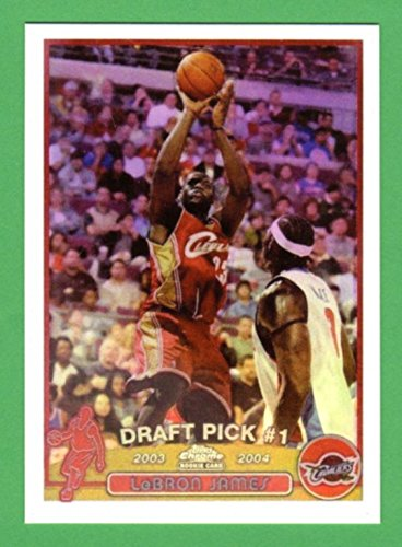LeBron James 2003-04 Topps Chrome Basketball Rookie Reprint Card (Cavaliers) (Heat)