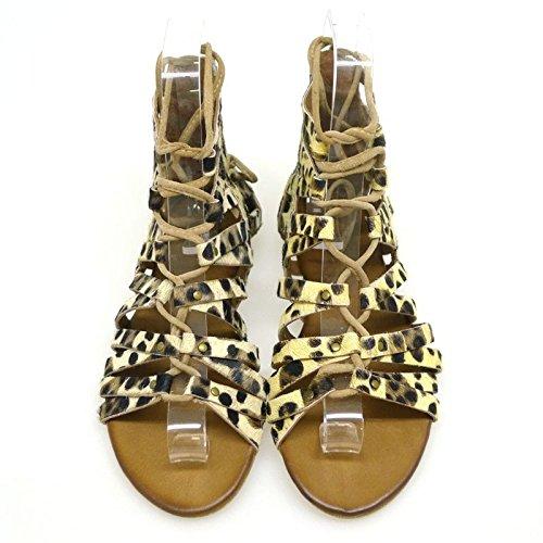 Inuovo Sandalias Planas Mujer 6254 Leopardo