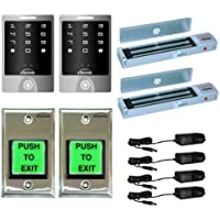 FPC-5111 Visionis Two door Access Control outswinging door 600lbs Electromagnetic lock with Outdoor Keypad kit