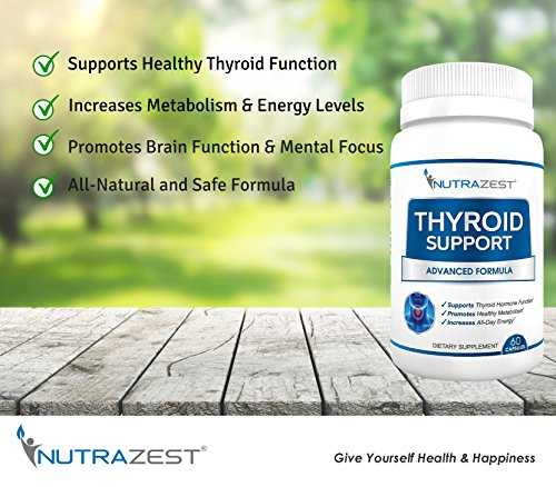 Thyroid Support Supplement - #1 Premium Formula to Boost Metabolism, Support Weight Loss, Increase Energy & Focus - with Iodine (Kelp), Zinc, L-Tyrosine, Ashwagandha, Vitamin B12-60 Capsules by Nutrazest (Image #6)