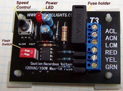 AC Traffic Light Controller / Sequencer - T3 - 3 Light Controller