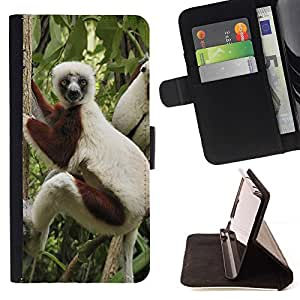 Momo Phone Case / Flip Funda de Cuero Case Cover - Mono divertido - Samsung ALPHA G850
