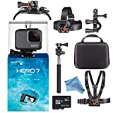 GoPro Hero7 Hero 7 Waterproof Digital Action Camera Starter Bundle (Silver)