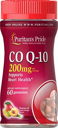 (Puritan's Pride Co Q-10 200mg Peach Mango Gummies-60 Gummies)