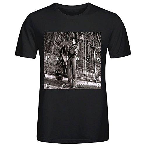 Come Prince Custom Men T Shirt Black