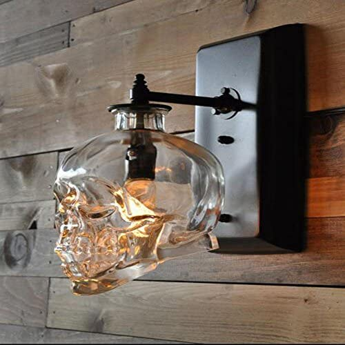 DMMSS Modern Bedroom Living Room Outdoor Skull Wall Lamp