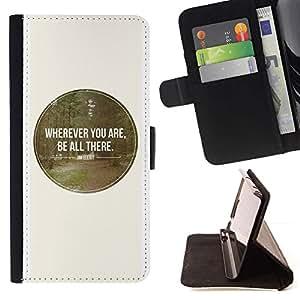 Momo Phone Case / Flip Funda de Cuero Case Cover - Estaré allí White Spot Ronda Bosque Amor Naturaleza - Sony Xperia Z5 5.2 Inch (Not for Z5 Premium 5.5 Inch)