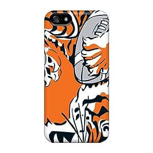 Iphone 5/5s VWF1917ReMU Customized Lifelike Cincinnati Bengals Series Protective Cell-phone Hard Cover -AnnaDubois