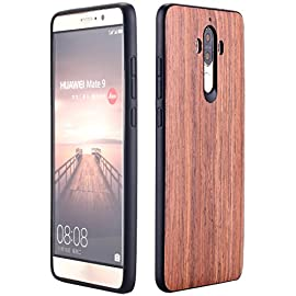 Huawei Mate 9 Case, AICase [Slim Fit] [Non Slip] PC Hybrid [Natural Wood] Protective Wooden Case for Huawei Mate 9 (Rose… 4 Design specifically for Huawei Mate 9 - 5.9 inch- 5.5 inch ( Not fit for Huawei Mate 9 Pro ) Unique & Attractive. AICase phone case is unique based on real wood skin layer, looks better on hand than picture, make your phone more attractive Practical Protector. The case can protect the screen, lens, and bumper edges very well. But we highly Recommend to match this case with a Screen Protector to avoid screen shattered once dropped on uneven floors.
