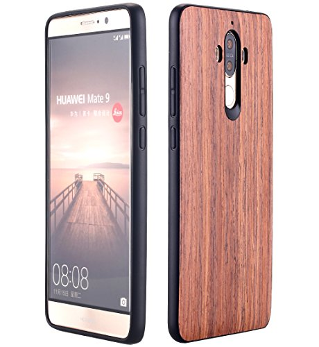 Huawei Mate 9 Case, AICase [Slim Fit] [Non Slip] PC Hybrid [Natural Wood] Protective Wooden Case for Huawei Mate 9 (Rose… 1 Design specifically for Huawei Mate 9 - 5.9 inch- 5.5 inch ( Not fit for Huawei Mate 9 Pro ) Unique & Attractive. AICase phone case is unique based on real wood skin layer, looks better on hand than picture, make your phone more attractive Practical Protector. The case can protect the screen, lens, and bumper edges very well. But we highly Recommend to match this case with a Screen Protector to avoid screen shattered once dropped on uneven floors.