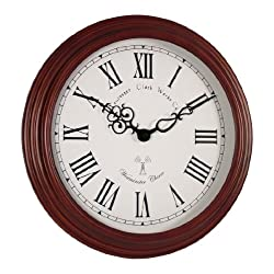 Acctim 74286 Lacock Radio Controlled Wooden Wall Clock
